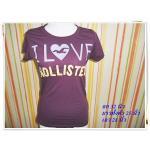 เสื้อยืดผู้หญิง Hollister สีเลือดหมู