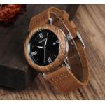 นาฬิกาข้อมือ ผู้หญิง ใส่ทำงาน นาฬิกาข้อมือ สายหนังแท้ ผสมผสาน กับไม้ หน้าปัดฝังเพชร สุดคลาสสิค นาฬิกาแฟชั่น เทรนด์ใหม่ 218909