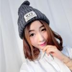สีเทาเช้ม : หมวกไหมพรม ทรงยอดฮิต หลากสี เกาหลีสุดๆ