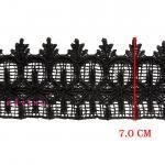 ผ้าลูกไม้ (สีดำ) # 6097 กว้าง 7 ซม.