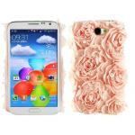 เคสโทรศัพท์ เคส Samsung Galaxy Note 2 N7100 เคสหรู ติดดอกกุหลาบ ติดมุก เคสไฮโซ แบบสวย ไม่ซ้ำใคร น่ารักสุด ๆ 756490