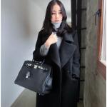 ไซส์ L : เสื้อโค้ทกันหนาว สไตล์เกาหลี ทรงยาวโคล่ง ดูดี ผ้าวูลผสมบุซับในกันลม พร้อมส่งจ้า