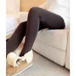 สีน้ำตาลเข้ม : Legging เลกกิ้งกันหนาว ลองจอน เลขตัวเดียวกำลังดี ด้านในเป็นขนนุ่ม ยืดได้เยอะ กระชับทรง พร้อมส่งเลยจ้า