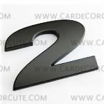 สติกเกอร์โลโก้ตัวเลขโลหะ 3D - 2