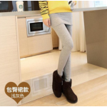สีเทาอ่อน : Skirts Legging เลกกิ้งกระโปรงกันหนาว ด้านในเป็นผ้าสำลีขนสั้น ยืดได้เยอะ