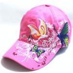 หมวก cap หมวกมีปีก หมวกเบสบอล ปักลาย ผีเสื้อ สีชมพู หวาน หมวกแก๊ป งาน Hand made ไม่ซ้ำใคร สายด้านหลังปรับขนาดตามต้องการ 635599_3