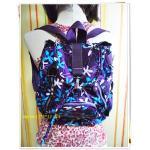 กระเป๋าสะพายหลัง กระเป๋าเป้ วัยรุ่น แบบแนว ๆ น่ารัก สีสันสดใส กระเป๋าเป้ ขนาดกลาง ใส่ของเที่ยว ใส่ของเรียน สีม่วงเข้ม ราคาถูก KP309