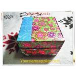 กล่องไม้ ขนาด 3.7*3.7 นิ้วสำหรับใส่ของขวัญ