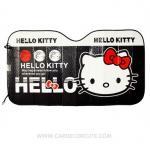 ( ลด 15 % ) HELLO KITTY - แผ่นบังแดดหน้ารถยนต์
