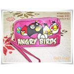 กระเป๋าซิป 3 ซิป angry bird นกโกรธ สีม่วง