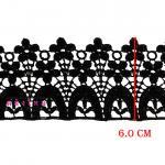 ผ้าลูกไม้ (สีดำ) # 6114 กว้าง 6 ซม.