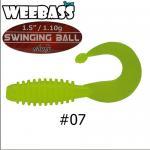 weebass เหยื่อหนอนยาง Swinging Ball 1.1g,07