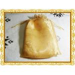 ถุงผ้าไหมแก้วสีทอง ขนาด 17 คูณ 23 cm 100 ใบ