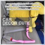 DOG Seat belt - สีชมพู
