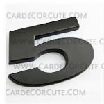 สติกเกอร์โลโก้ตัวเลขโลหะ 3D - 5