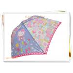 ร่มกันฝน ร่มพับได้ Kitty สีม่วง A002