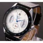 นาฬิกาข้อมือ ผู้ชาย Winner สายหนังแท้ หน้าปัดแบบ Sport มี 3 สี