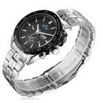 นาฬิกาข้อมือ ผู้ชาย สาย Stainless steel สีเงิน ผสมผสาน กับความ สปอร์ตอย่างลงตัว นาฬิกาสแตนเลส หน้าปัดดีไซน์ Sport ของขวัญให้แฟน 626858