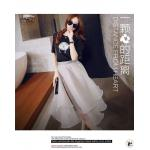 **สินค้าหมด Set_bs1502-สีดำ+เทา ชุด2ชิ้น(เสื้อ+กระโปรง)แยกชิ้น เสื้อยืดแต่งลายแกะผ้าคอตตอนผสมสแปนเด็กซ์เนื้อนุ่ม+กระโปรงผ้าใยแก้วสีพื้นเนื้อดีหนาสวยหรู