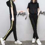 **สินค้าหมด Set_bt1614-Size-XL ชุดเซ็ท 2 ชิ้น(เสื้อ+กางเกง) เสื้อทรงสปอร์ตมีฮู้ดกระเป๋าหน้า กางเกงขายาวเอวยืด สีพื้นดำ