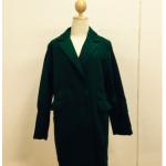 สีเขียว XL : เสื้อโค้ทกันหนาว ทรงสวย มีสไตล์ ผ้าวูลเนื้อดี บุซับในกันลม พร้อมส่งจ้า