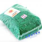 เชือกร่ม (500 กรัม) #717 (สีเขียวสด ดิ้นเงิน)