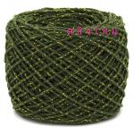 #S-028 (สีเขียวขี้ม้า ดิ้นทอง)