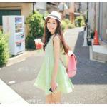 สีเขียวอ่อน : เสื้อตัวยาว/ mini dress สุดน่ารัก ผ้าฝ้ายปักลายหวานๆ พร้อมส่ง