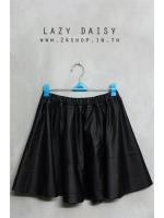 กระโปรงหนังทรงสวิงแบรนด์ LAZY DAISY