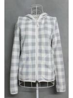 เสื้อกันหนาวมือสอง Uniqlo สีขาว-เทา ไซส์ M