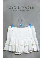 กระโปรงสั้นผ้าทวีต แบรนด์ CECIL McBEE ไซส์ M