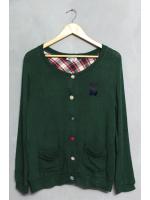 เสื้อไหมพรมสีเขียวน่ารัก