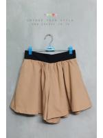กางเกงขาสั้นสีน้ำตาลทอง