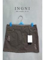 กระโปรงยีนส์ INGNI สีน้ำตาล