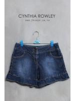 กางเกงยีนส์ขาสั้นแบรนด์ CYNTHIA ROWLEY