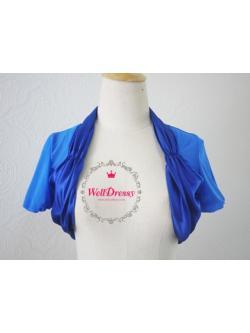 เสื้อคลุมสีน้ำเงินรอยัล ตัวสั้นใต้อก ผ้าตาข่ายละเอียดเนื้อนิ่ม ชายซาตินหรู งานสวย