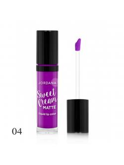 Jordana Sweet Cream Matte Liquid Lip Color # 04 Mixed Berry Souffle 3g