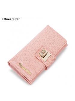 กระเป๋าสตางค์ KQueenStar รุ่น BNE1411-001 - สีชมพูอ่อน