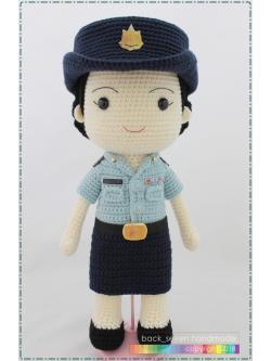 ตุ๊กตาถักชุดกรมทรัพยากรทางทะเลและชายฝั่ง หญิง