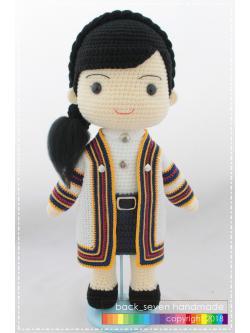ตุ๊กตาชุดรับปริญญาหญิง ม.เทคโนโลยีราชมงคลธัญบุรี
