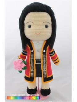 ตุ๊กตาชุดรับปริญญาหญิง ม.แม่ฟ้าหลวง