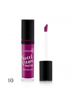 Jordana Sweet Cream Matte Liquid Lip Color # 10 Sugared Plum 3g