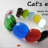 ข้อมือเอ็นยืด ตาแมว Elastic bracelet. Cat's eye stone. CE101B