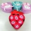 กล่องหัวใจวาเลนไทน์ ดอกกุหลาบ6ดอก(มีกลิ่นหอม) สีแดง