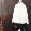 เสื้อเชิ้ตแขนยาวผ้าลินิน มีไซส์เดียว ช่วงหน้าอกประมาณ100-110ซม.หรือ 40-43นิ้ว