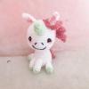พวงกุญแจยูนิคอร์นถักไหมพรม สีชมพู ขนาด 4 นิ้ว unicorn crochet keychain 4 inch