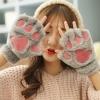สีเทา : ถุงมือกันหนาว ขนแมวนุ่มๆ ใครชอบแนวแบ๊วๆ ห้ามพลาด