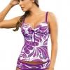 ชุดว่ายน้ำ ทูพีช สีม่วงอมชมพู แบบเสื้อกล้าม กางเกงทรง v cut เสริมบาร์ ชุดว่ายน้ำ ใส่เที่ยว สวย ๆ 353762