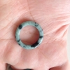 RJ55(9) แหวนหยกพม่าแท้ไซท์เล็กพิเศษ ไซท์ 55 USA7 นื้อสวยเกรดส่งออกสีธรรมชาติ 100 %