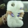 เคส iphone 6 6 plus เคสขนเฟอร์ ขนกระต่ายแท้ ขนาด 4.7 และ 5.5 นิ้ว เคสขนกระต่าย ทำความสะอาดได้ สีขาว เคสไฮโซ 403364